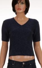 Дамски пуловер с къс ръкав